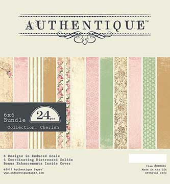 Authentique Paper Pad - Cherish  (24 sheets)