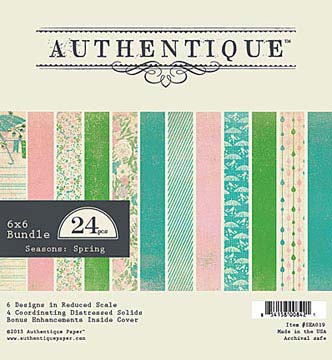 Authentique Paper Pad - Spring (24 sheets)