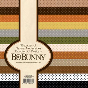 Bo Bunny 6 x 6 Paper Pad - Double Dots Natural Necessities