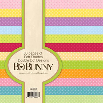 Bo Bunny 6 x 6 Paper Pad - Double Dots Soft Shades