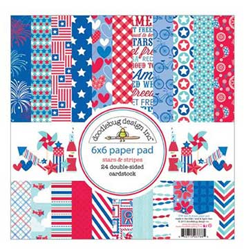 Doodlebug - Stars and Stripes 6 x 6 paper pad