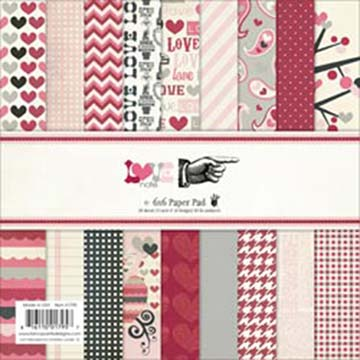 Fancy Pants - 6 x 6 paper pad - Love Note
