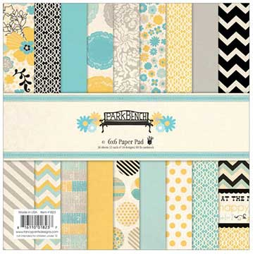 Fancy Pants - 6 x 6 paper pad - Park Bench