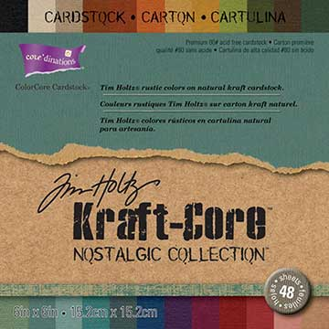 "Core'dinations Kraft Core By Tim Holtz (6"" x 6"") 48/Sheets - Nostalgic"