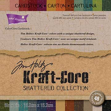 "Core'dinations Kraft Core By Tim Holtz (6"" x 6"") 48/Sheets - Shattered"