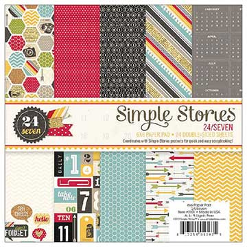 Simple Stories 6 x 6 paper stack - 24/Seven