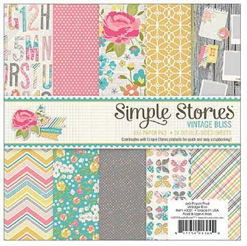 Simple Stories 6 x 6 paper stack - Vintage Bliss