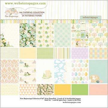 Websters Pages 6 x 6 paper pad - New Beginnings